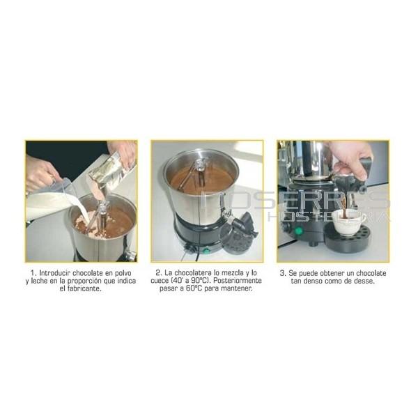 Chocolatera industrial cafeteria suministros menaje y for Menaje industrial