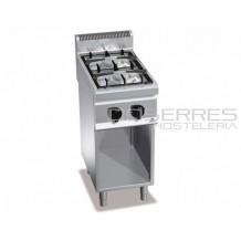 Cocina 2 fuegos + soporte Bertos
