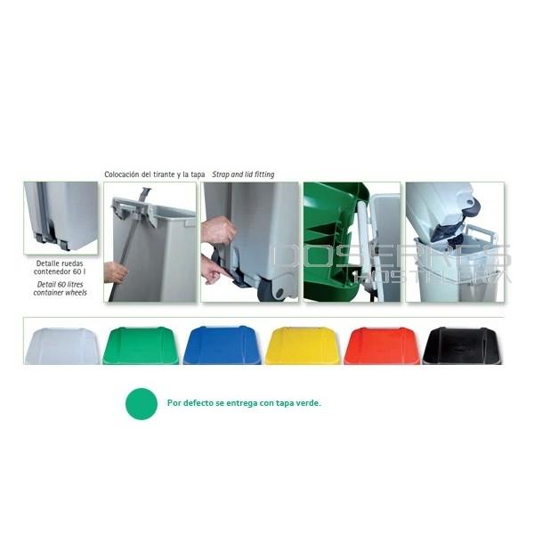 Cubo de basura industrial 80 lts suministros menaje y for Menaje industrial