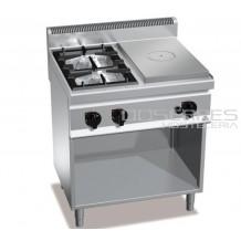 Cocina 2 fuegos con placa radiante