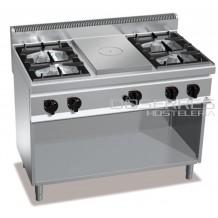 Cocina 4 fuegos + radiante