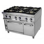 Cocina 6 fuegos+horno Repagas