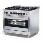 Cocina 5 fuegos + horno convección