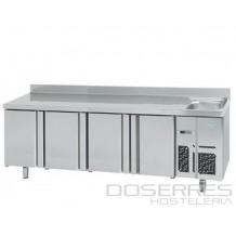 Mesa Refrigerada 2500 con fregadero INFRICO